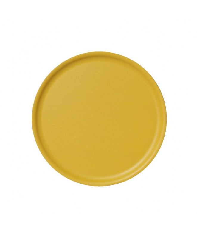 Dřevěný tác B&L Wood Summer yellow d35