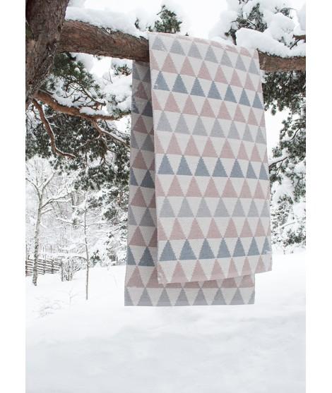 Plastic rug Tribus grey pink