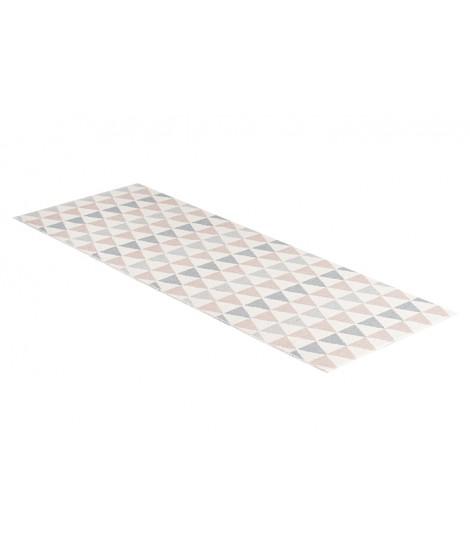 Plastový koberec Tribus grey pink 70x200