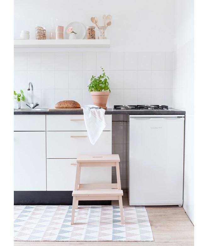 Plastový koberec Tribus grey pink kuchyně