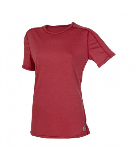 Janus LW merino T-shirt W SS rosa