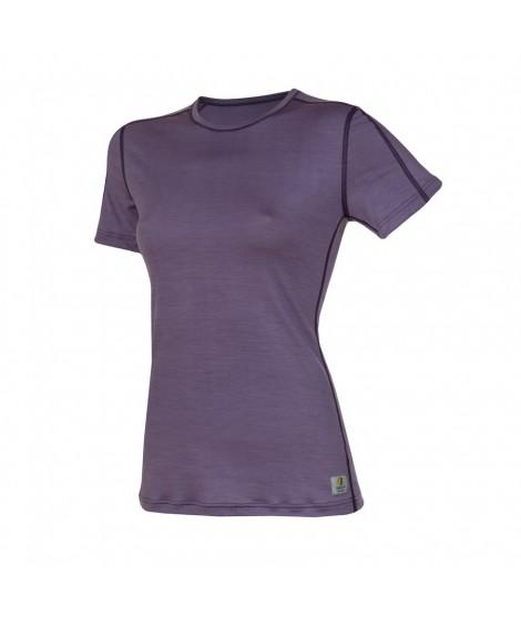 Janus LW merino T-shirt W SS purple