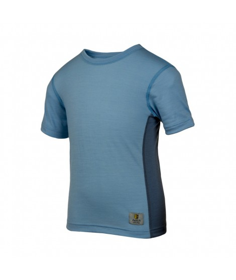 Janus LW merino T-shirt K SS light blue