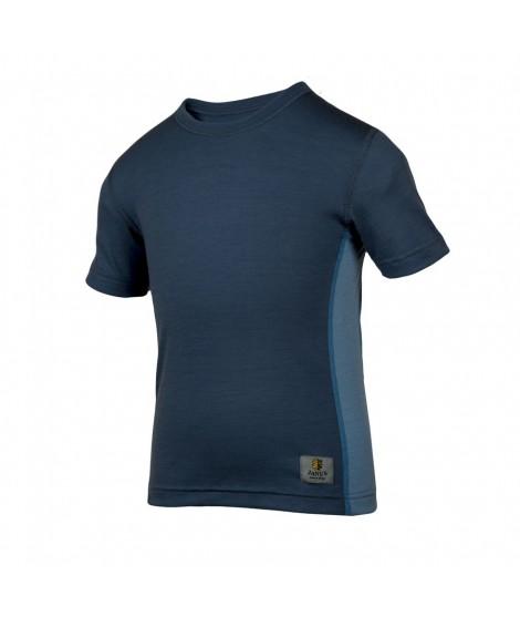 Janus LW merino T-shirt K SS dark blue