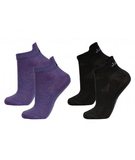 Janus nízké ponožky merino LW Purple Black 2-pack