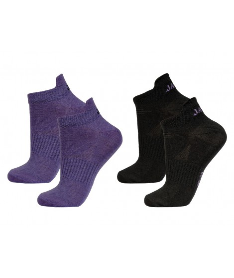 Janus woman merino socks LW Purple Black 2-pack