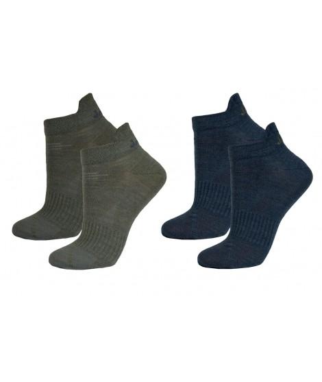 Janus nízké ponožky merino LW Olive Blue 2-pack