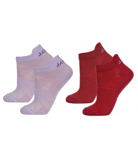 Janus kids merino socks LW Pink Red 2-pack