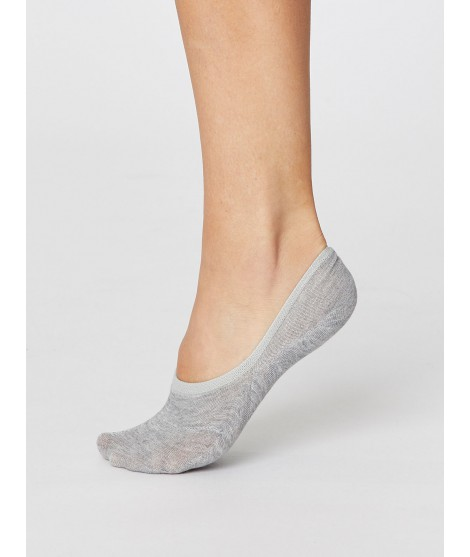No show Woman Grey bambusové ponožky