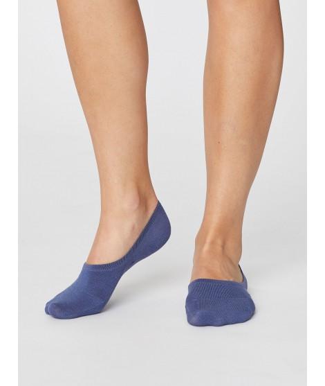No show Woman Blue bambusové ponožky
