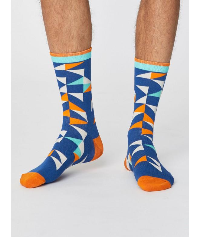 Bambusové ponožky Triangle blue