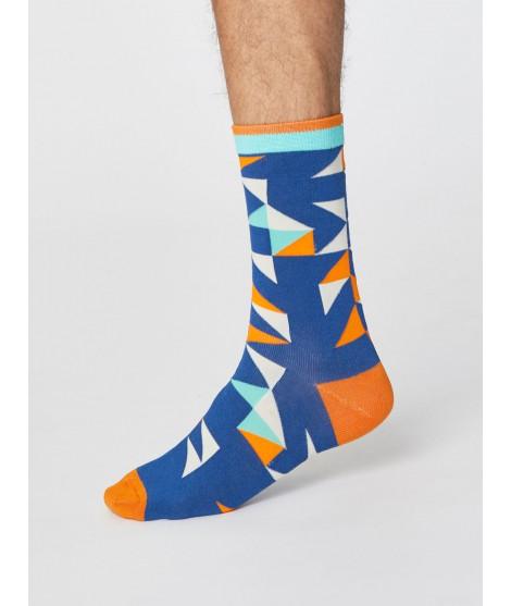 Bambusové ponožky Triangle blue one