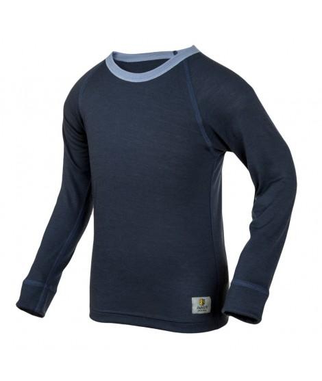 Janus LW merino T-shirt K LS blue