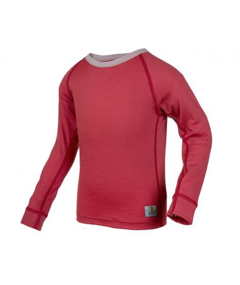 Janus LW merino T-shirt K LS red