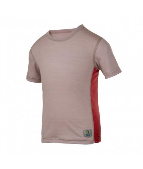 Janus LW merino T-shirt K SS mauve