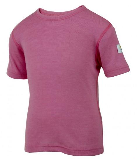 Janus LW merino T-shirt K SS pink