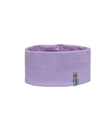 Janus LW Kids merino headband purple