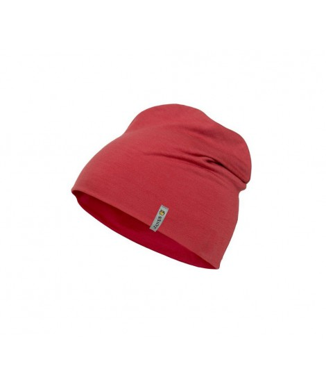 Janus LW Kids merino hat red