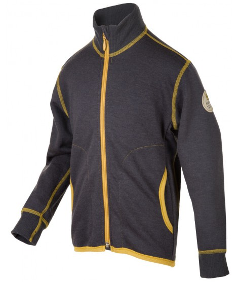 Janus LW merino Jacket Junior grey 90cm