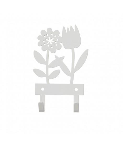 Kovový věšáček Tulip white