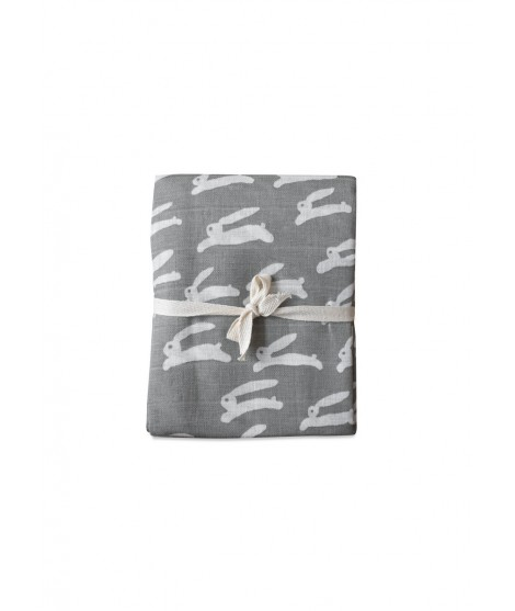Kids muslin blanket Rabbit grey