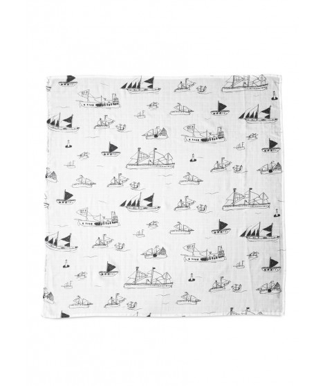 Kids muslin blanket Ohoy grey