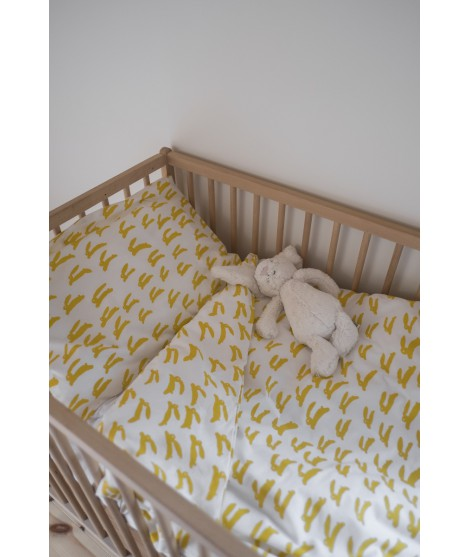 Povlečení do dětské postýlky Rabbit yellow crib