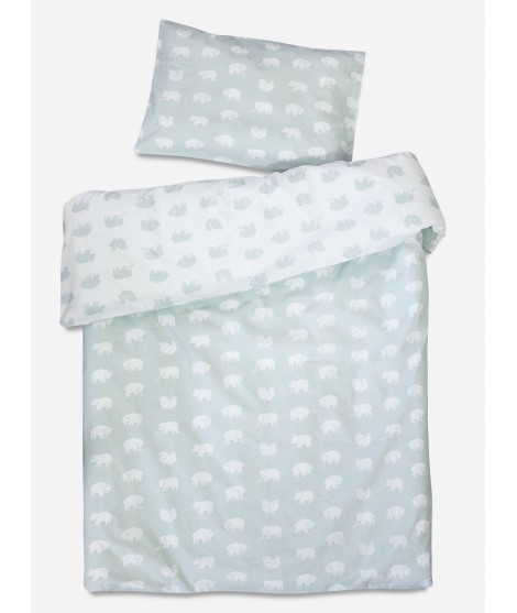 Children bed linen Bjorn sage 110x130