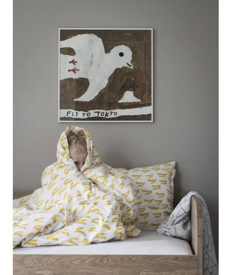 Bed linen Rabbit yellow 150x210 bed