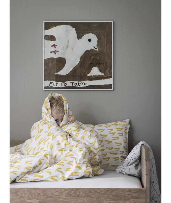 Ložní povlečení Rabbit yellow 150x210 bed
