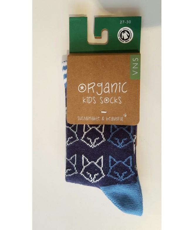 Dětské bavlněné ponožky Fox blue