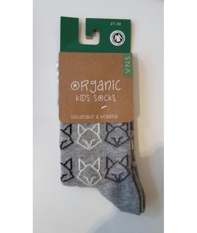 Dětské bavlněné ponožky Fox grey