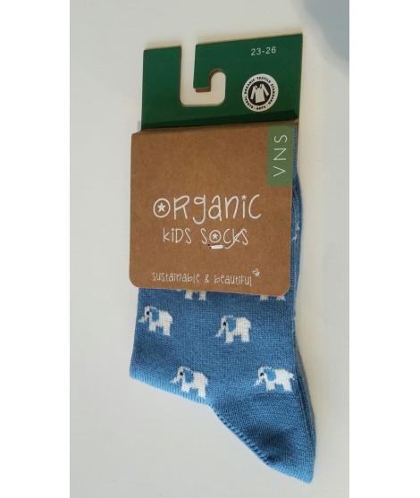 Kojenecké bavlněné ponožky VNS modrý slon