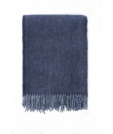 Wool throw Shimmer blue