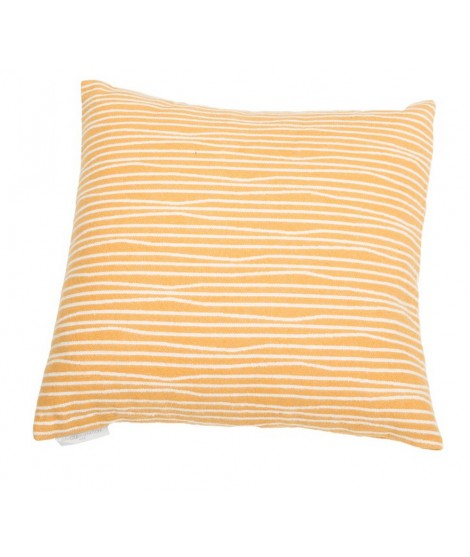 Cotton cushion Lines gold