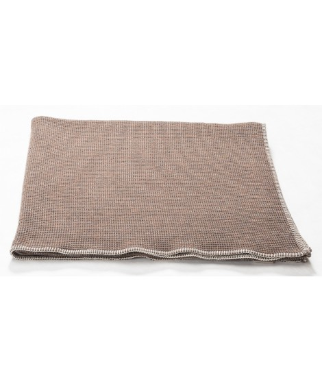 Cotton blanket  LIDO brown