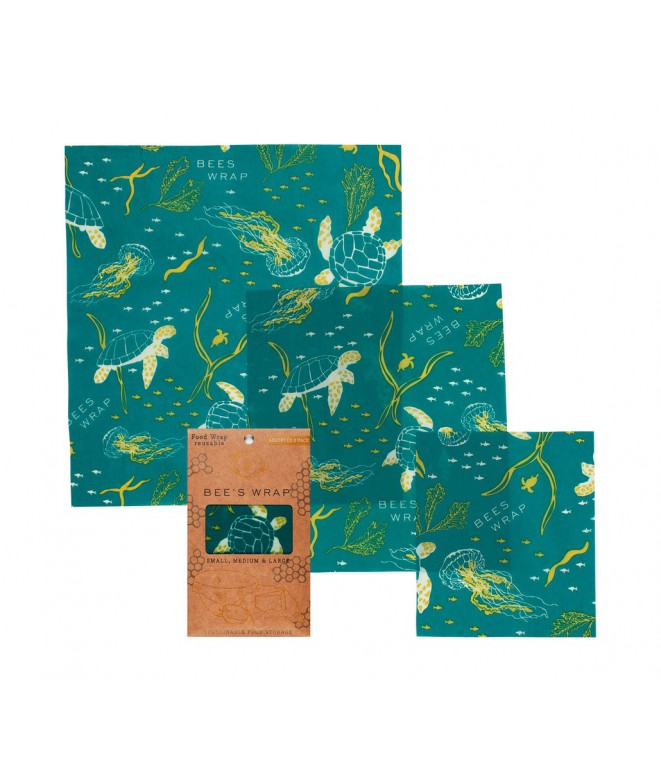 Potravinové ubrousky Bee's Wrap Assorted Ocean 3-pack pattern