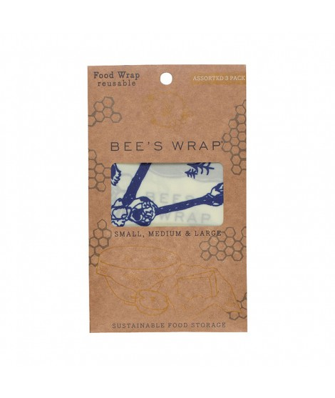 Potravinovy ubrousek Bee's Wrap Assorted Bees & Bears 3-pack