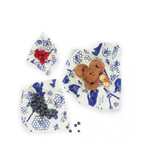 Potravinovy ubrousek Bee's Wrap Assorted Bees & Bears modrý