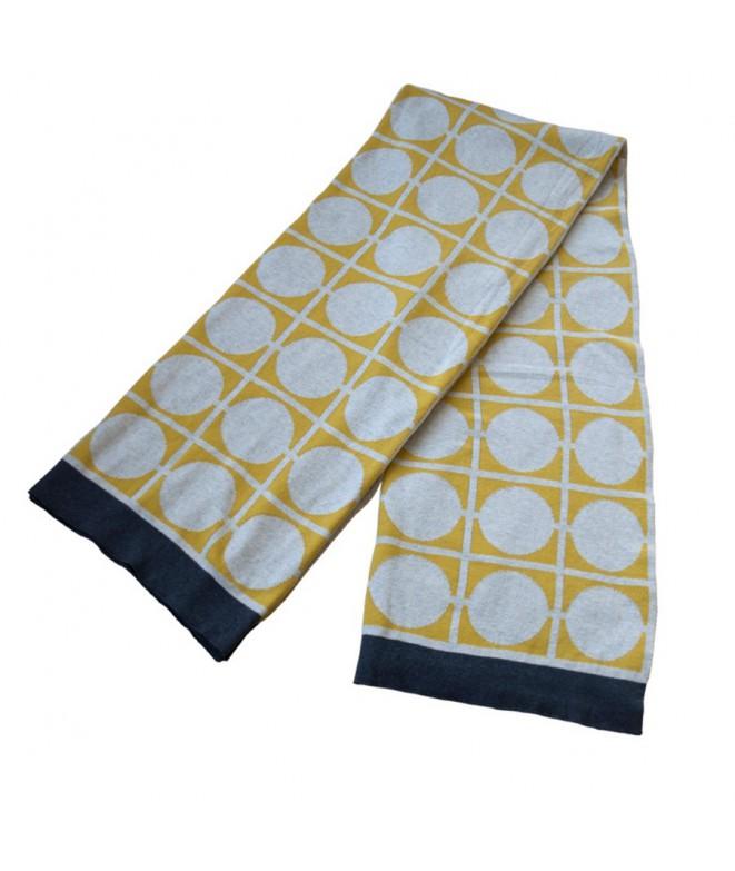 Pletená bavlněná deka Don yellow žlutá 130x170