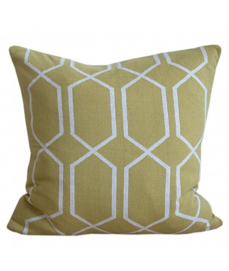 Knitted cushion cover Irma olive