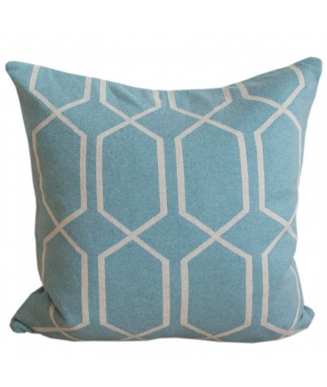Knitted cushion cover Irma seablue