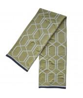Pletená bavlněná deka Irma olive 130x170