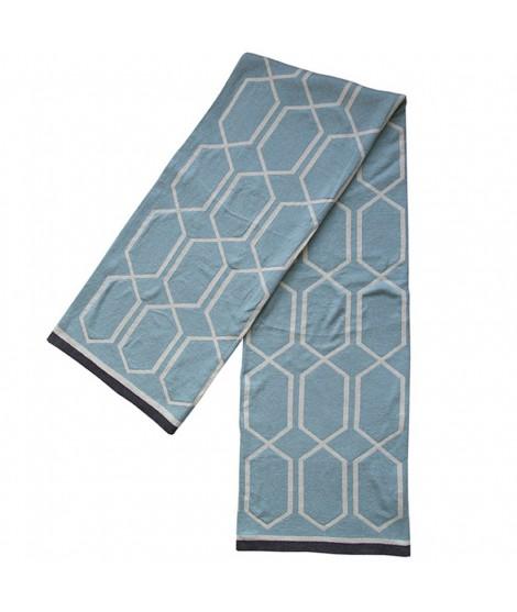 Pletená bavlněná deka Irma seablue 130x170