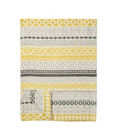 Merino blanket Wera yellow