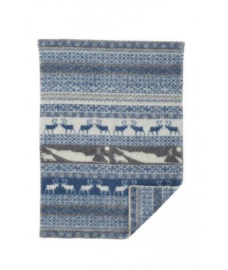 Wool baby blanket Sarek baby blue