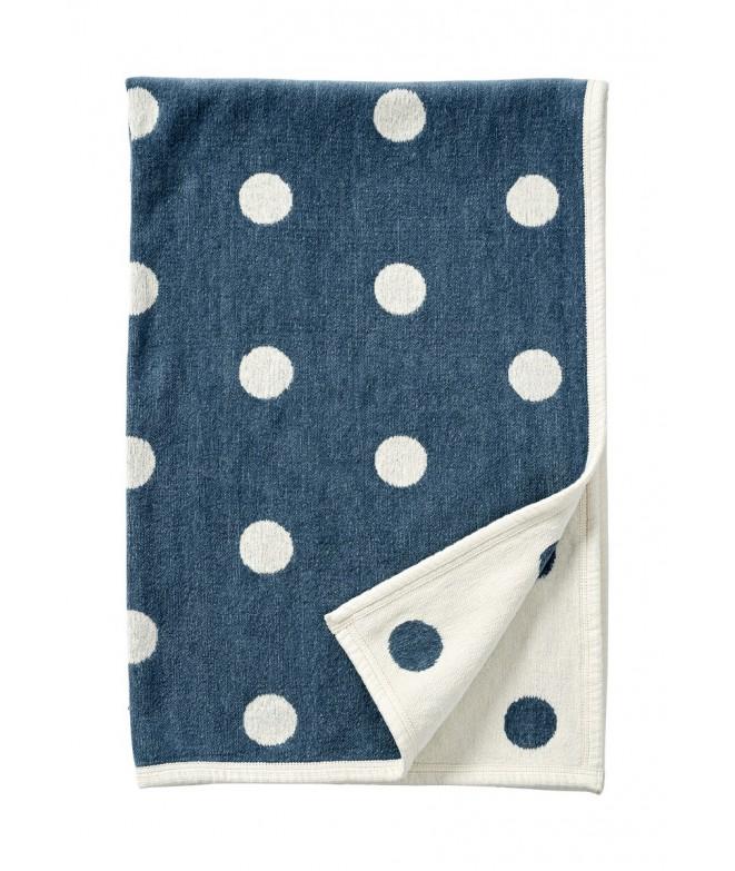 Dětská deka chenille Dots blue 140x90