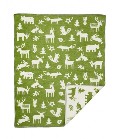 Cotton baby blanket Forest green