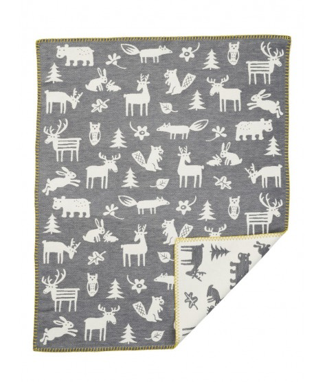 Cotton baby blanket Forest grey