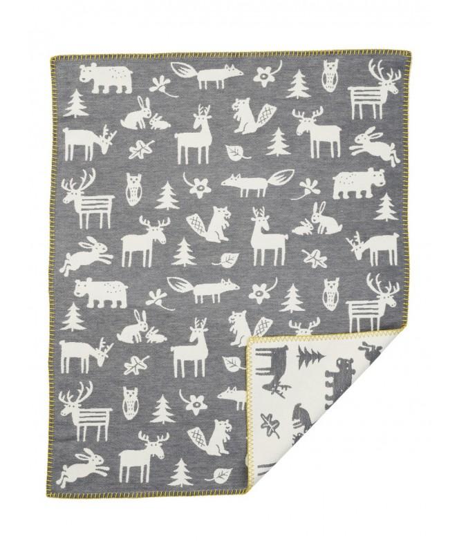 Bavlněná dětská deka Forest grey